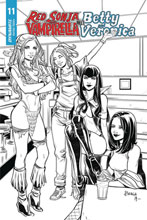 Image: Red Sonja and Vampirella Meet Betty and Veronica #11 (incentive 1:20 cover - Braga B&W) - Dynamite