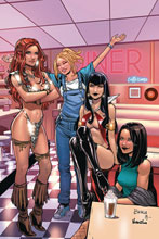 Image: Red Sonja and Vampirella Meet Betty and Veronica #11 (incentive 1:30 cover - Braga virgin) - Dynamite