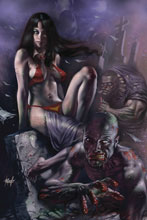 Image: Vengeance of Vampirella #7 (variant cover - Parrillo virgin) - Dynamite