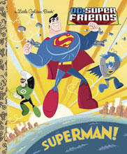 Image: DC Super Friends Little Golden Book: Superman HC  - Golden Books