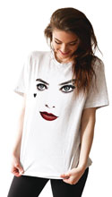 Image: DC T-Shirt: Birds of Prey - Harley Face  (XL) - Graphitti Designs