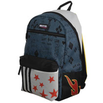 Image: Birds of Prey Backpack: Harley Quinn Faux Denim  (Ripstock) - Bioworld Merchandising