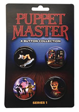 Image: Puppet Master Button Collection Ser1 4Pk  - Full Moon Features