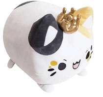 Image: Tasty Peach Studios Meowchi Plush: King Calico  (10.5-Inch) - Tasty Peach Studios