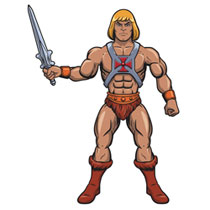 Image: Paper People 50-Inch Jointed Paper Character: Masters of the Universe - He-Man  - Super 7