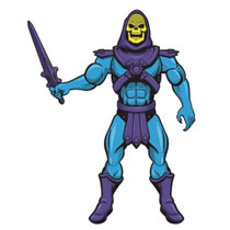 Image: Paper People 50-Inch Jointed Paper Character: Masters of the Universe - Skeletor  - Super 7
