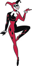 Image: DC Batman the Animated Series Pin: Harley Quinn  - Popfun Merchandising LLC