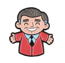 Image: Mister Rogers Enamel Pin: Puppet  - Little Shop of Pins