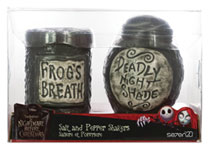 Image: Nightmare Before Christmas Figural Salt & Pepper Shakers: Night Shade & Frogs Breath  - Seven 20