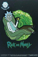 Image: Rick and Morty Pin: Floating Rick Chair  - Zen Monkey Studios LLC