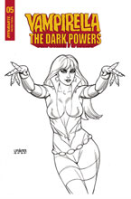 Image: Vampirella: The Dark Powers #5 (incentive 1:20 cover - Linsner B&W) - Dynamite