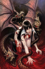 Image: Vengeance of Vampirella #17 (incentive 1:10 cover - Segovia virgin) - Dynamite