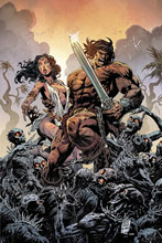 Image: Cimmerian: Iron Shadows in the Moon #1 (incentive 1:10 cover - Level virgin) - Ablaze