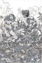 Image: Cimmerian: Iron Shadows in the Moon #1 (incentive 1:20 cover - Level B&W line art) - Ablaze