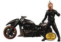 Image: Marvel One-12 Collective Action Figure Set: Ghost Rider & Hell Cycle  - Mezco Toys