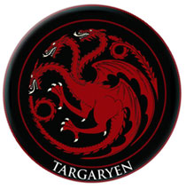 Image: Game of Thrones Embroidered Patch: Targaryen  - Dark Horse