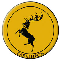 Image: Game of Thrones Embroidered Patch: Baratheon  - Dark Horse
