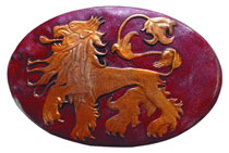 Image: Game of Thrones Shield Pin: Lannister  - Dark Horse Comics