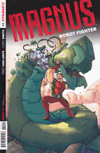 Image: Magnus: Robot Fighter #1 (25-copy incentive cover - Wegener Art) - Dynamite