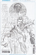 Image: Six Million Dollar Man: Season 6 #1 (15-copy incentive cover - Ross) - Dynamite