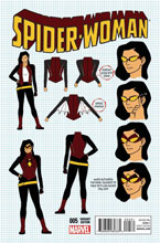 Image: Spider-Woman #5 (Anka character design variant cover - 00531) - Marvel Comics