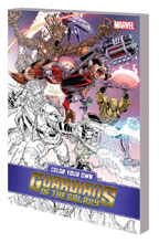 Image: Color Your Own Guardians of the Galaxy SC  - Marvel Comics