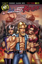Image: AmeriKarate #1 (Artist variant - Explosive Threesome cover)  [2017] - Action Lab - Danger Zone
