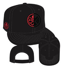 Image: Marvel Split Side Snap Back Cap: Shield & Hydra Symbol  - New Era Cap Co