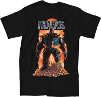 Image: Marvel T-Shirt: Thanos #1 [Black]  (XL) - Mighty Fine