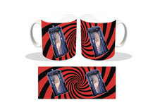 Image: Doctor Who Coffee Mug: Tardis Swirl  - Titan Books Uk