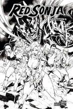 Image: Red Sonja Vol. 04 #15 (cover H incentive - Gomez B&W) (30-copy)  [2018] - Dynamite