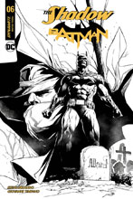 Image: Shadow / Batman #6 (cover J incentive - Segovia B&W) (50-copy) - Dynamite