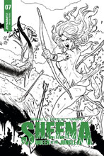 Image: Sheena: Queen of the Jungle #7 (cover G incentive - Galindo B&W) (25-copy) - Dynamite