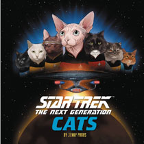 Image: Star Trek: The Next Generation Cats HC  - Chronicle Books