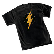 Image: Justice League T-Shirt: Flash Symbol II  (M) - Graphitti Designs
