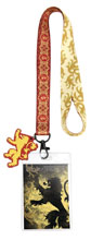 Image: Game of Thrones Lanyard: House Lannister  - Crowded Coop, LLC