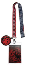Image: Game of Thrones Lanyard: House Targaryen  - Crowded Coop, LLC