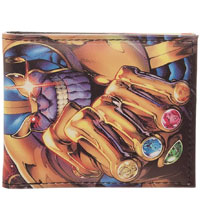 Image: Marvel Bi-Fold Wallet: Thanos with Infinity Gauntlet  - Bioworld Merchandising