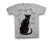 Image: Black Magick T-Shirt: Hawthorne Cat  (XL) - Image Comics