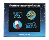 Image: Mystery Science Theater 3000 Enamel Pin Set  - Dark Horse Comics