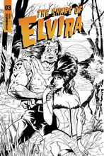 Image: Elvira: The Shape of Elvira #3 (incentive cover - Acosta B&W) (30-copy) - Dynamite