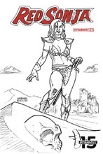 Image: Red Sonja Vol. 05 #2 (incentive cover - Linsner B&W) (30-copy) - Dynamite