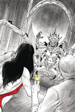 Image: Vampirella vs. Reanimator #4 (incentive cover - Shepherd virgin) (25-copy) - Dynamite