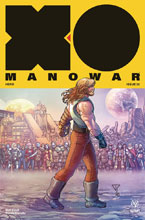 Image: X-O Manowar #25 (2017) (incentive cover - Portela Interlocking) (20-copy) - Valiant Entertainment LLC