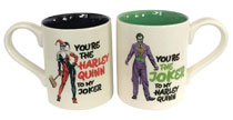 Image: DC Heroes Mug Set: Onim Harley and Joker  - Enesco Corporation