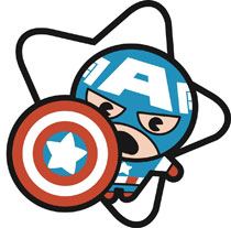 Image: Marvel Kawaii Pin: Captain America  - Popfun Merchandising LLC