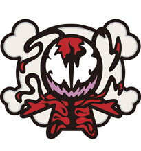 Image: Marvel Kawaii Pin: Carnage  - Popfun Merchandising LLC