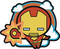 Image: Marvel Kawaii Pin: Iron Man  - Popfun Merchandising LLC