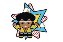Image: Marvel Kawaii Pin: Power Man  - Popfun Merchandising LLC