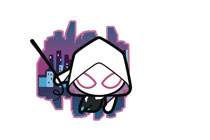 Image: Marvel Kawaii Pin: Spider-Gwen  - Popfun Merchandising LLC